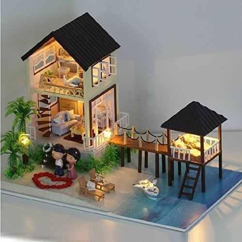 Conjunto Hecho A Mano De Casa De Muñecas En Miniatura
