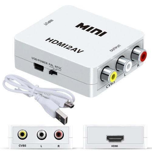 Convertidor Hdmi A Rca Av Audio Video Adaptador Ntsc Pal Tv