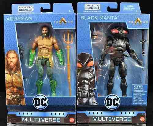 Dc Multiverse Aquaman Y Black Manta Baf Nuevos Mattel Oferta
