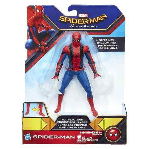 Figura Spiderman Homecoming 6 Pulgadas Se Ilumina