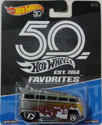 Hot Wheels 1/64 50th Aniversario Favorites Drag Bus Combi