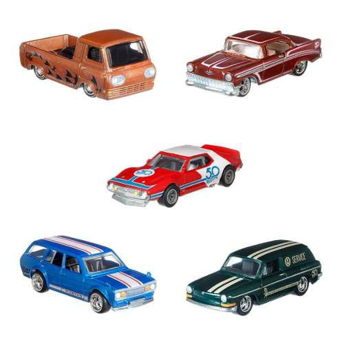 Hot Wheels Caja Sellada 10 Vehiculos 50 Aniversario Flf35