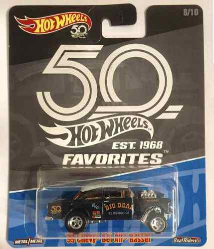 Hot Wheels Favorites 50th 55 Chevy Bel Air Gasser Chase 1/64