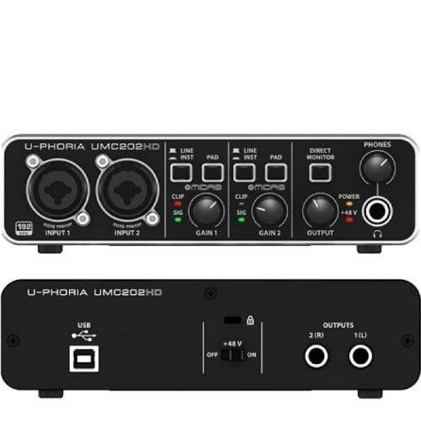 Interfaz De Audio Usb 2 Canales Behringer Umc202hd Umc-202hd