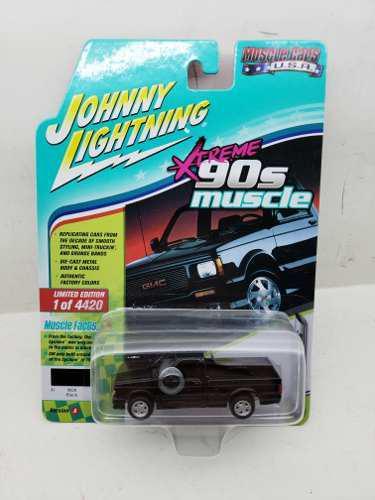 Johnny Lightning 1/64 1991 Gmc Syclone Negra- Autos A Escala