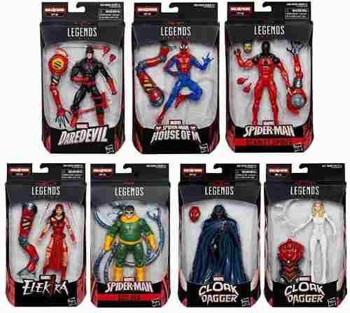 Marvel Legends Spider-man Sp/dr Set Con 7 Figuras Hasbro