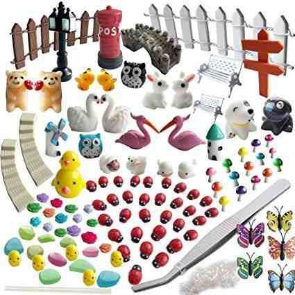 Miniatura Adornos De Jardín, 99 Us Adornos Miniatura Kit