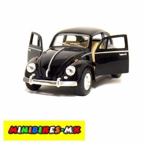 Negro Volkswagen Beetle 1967 Vocho A Escala 1:32 Colección