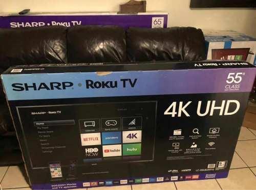 Remate 55 Sharp Con Roku 4k Ultra Hd Smart Tv Mod