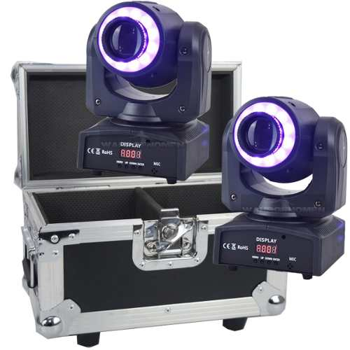 Set 2 Cabeza Movil Spot Led 60w Disco Dmx Con Case Robotica