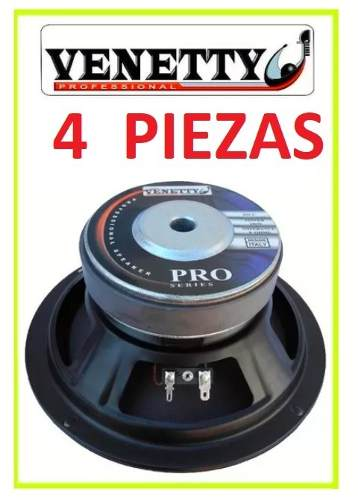 Set 4 Bocina Venetty w 95db 73hz-hz, Lineales