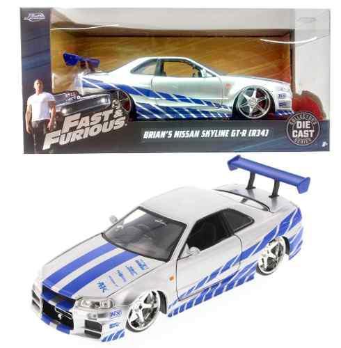 Set 4 Brian´s Nissan Skyline Gtr R34 Rapido Y Furioso 1:24