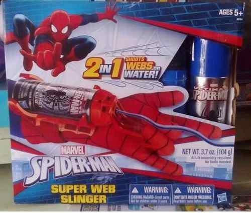 Spider-man Guante Lanza Telaraña 2 En 1 Color Shock Slinger