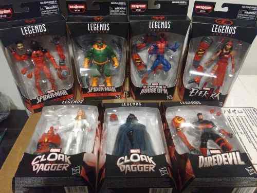Spiderman Marvel Legends Paquete 7 Figuras (baf Sp//dr)
