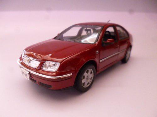 Vw Jetta A4 V6 1/24 Metalico Rojo Coleccion Welly 2001