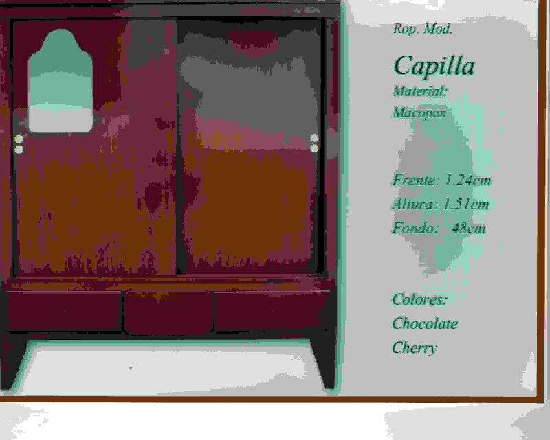 ROPERO CAPILLA 1 PZA C/ LUNA 1.25 MTS.