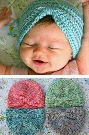 4 Gorros Tejido Crochet Tipo Turbantes
