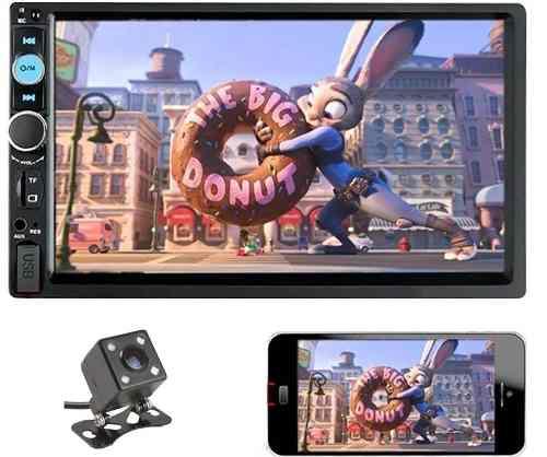 Auto Estereo Pantalla Touch 2 Din Bluetooth Camara Reversa
