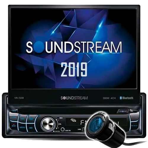 Autoestéreo Motorizado Soundstream Vr-720b Bonus Camara Rev