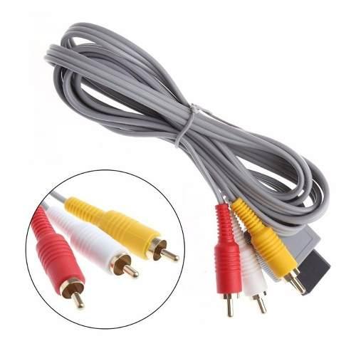 Cable De Audio Y Video Rca Para Nintendo Wii Y Wii U