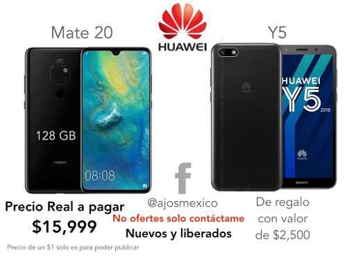 Huawei Mate 20 + Huawei Y5 Precio Real A Pagar $ 15999