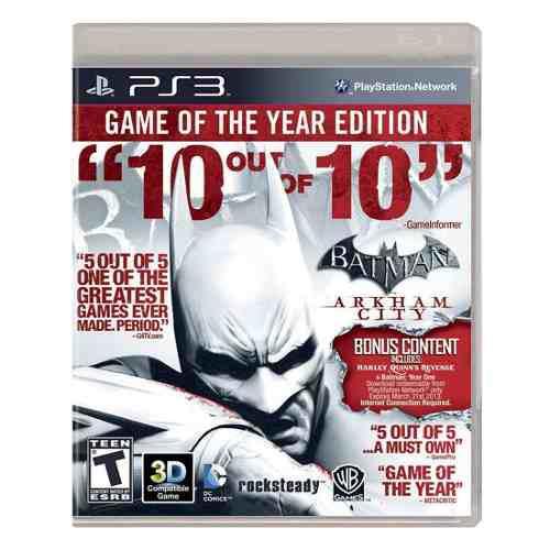 Juego Batman Arkham City Goty Ps3 Ibushak Gaming