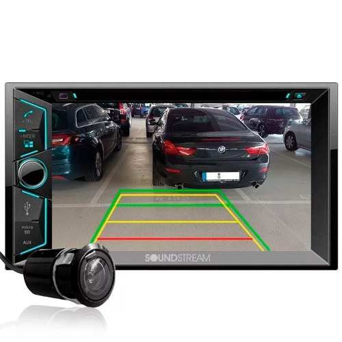 Pantalla Doble 2 Din Soundstream Vr-624b C/camara Bluetooth
