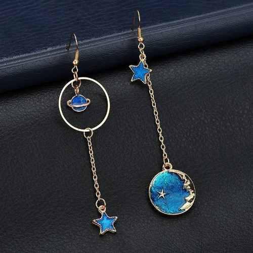 Aretes Asimetricos, Universo De Luna, Estrella Planeta Azul