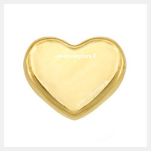 Aretes Broquel En Oro Solido 10k Mod Corazón Liso