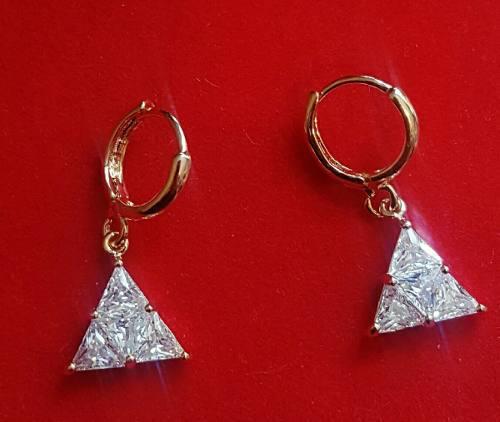 Aretes De Oro Y Swarovski Elements, Envio Gratis.