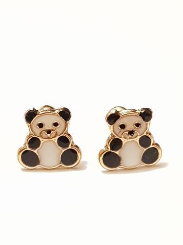 Aretes De Oso Panda 1 De Oro Laminado Envio Gratis