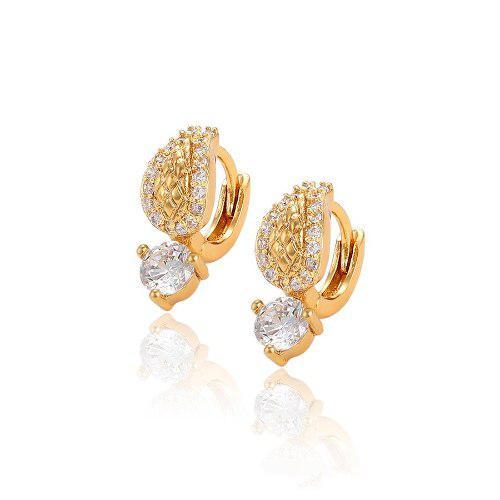 Hermosas Arracadas Huggies Mini De Oro Lam 18k Con Zirconias