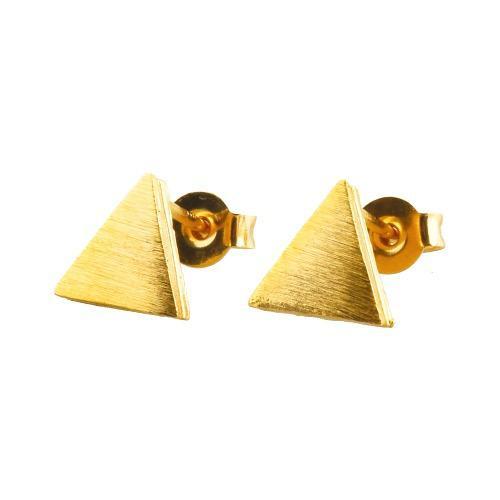 Luckyly Aretes Bisutería Cléopatre Triangulares Oro, Plata