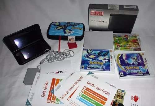 Nintendo 3ds Xl + 4 Juegos + Estuche + 2 Plumas + Memoria 4g