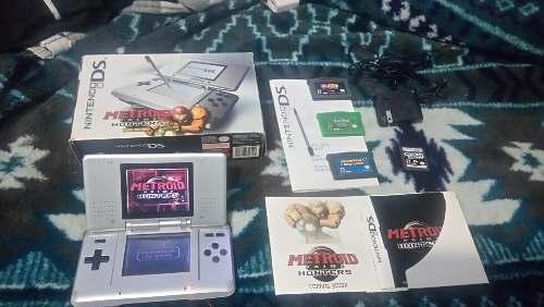 Nintendo Ds Fat Metroid En Caja Manuales Y Pokemon Mario
