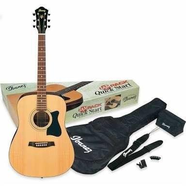 Paquete Completo Guitarra Acústica Ibanez Jampack Envio