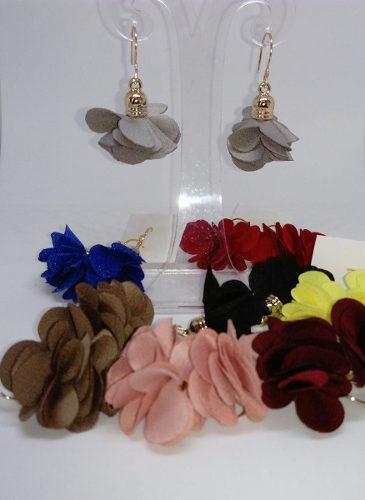 Set 7 Aretes Artesanales Flores Moda Mujer Bisuteria