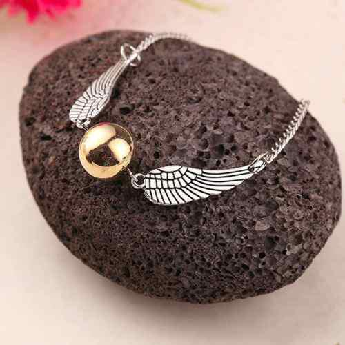 Harry Potter Snitch Dorada Golden Quidditch Pulsera Alas Pl