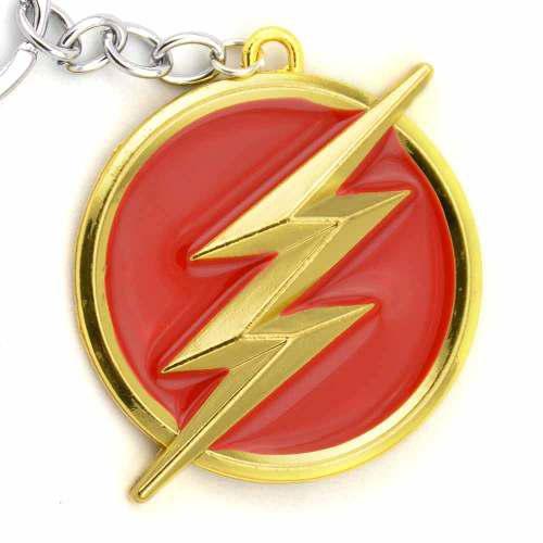 Llavero Conmemorativo Superhéroes Dc Comics Flash Rojo/oro