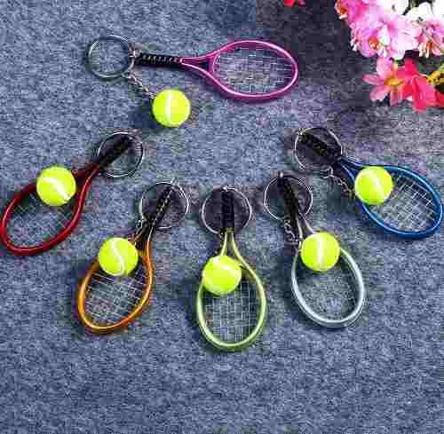 Llavero Raqueta De Tenis, Tennis De Campo Deportes Coleccion