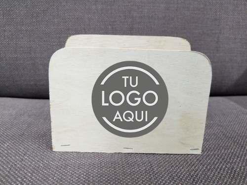 Servilletero De Madera Con Tu Logo Con Tu Logo O Imagen