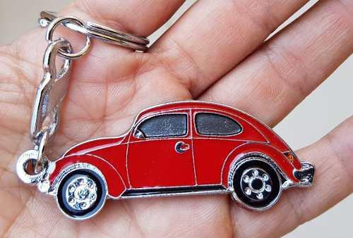 Volkswagen Vocho Vw Rojo Precioso Llavero Metalico 1418