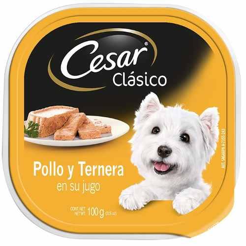 Alimento Para Perro Cesar Pollo Y Ternera En Su Jugo 100 Gr