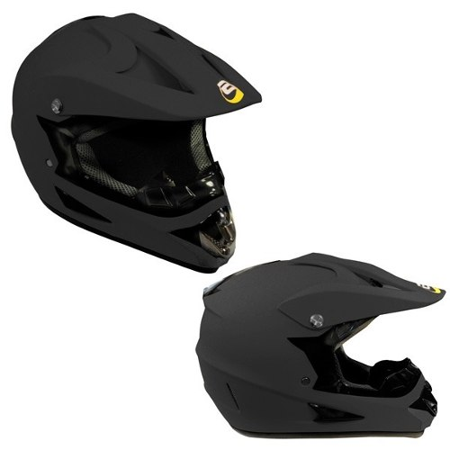 Casco Tipo Cross Stone Negro Mate Certificacion Dot Tallas