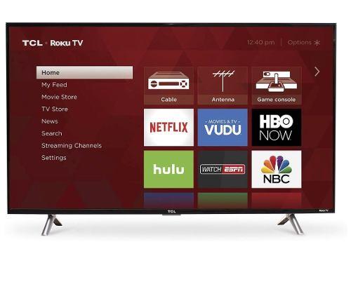 Pantalla Smart Tv Tcl De 43´´ Roku Tv Full Hd Wifi Hdmi