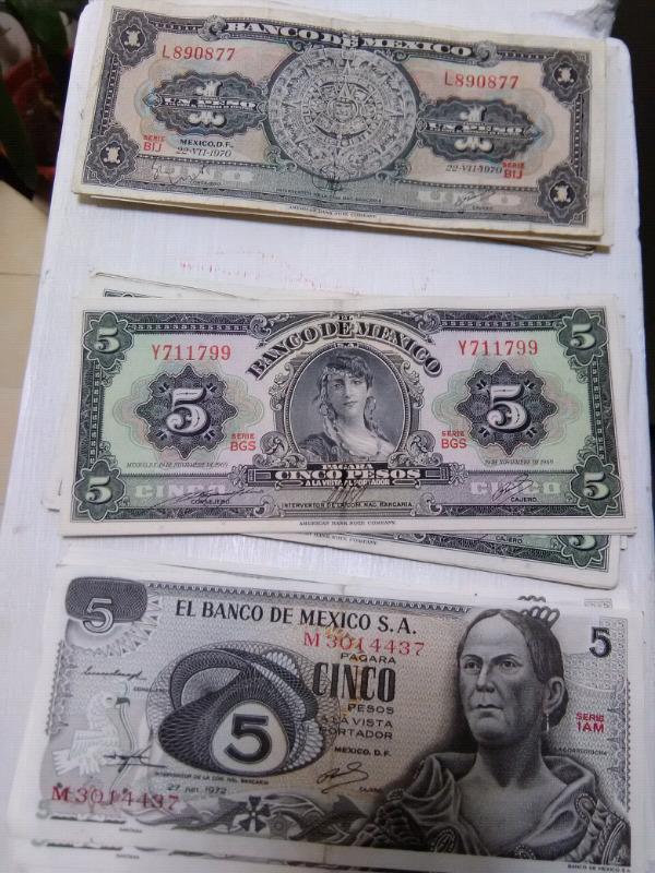 Se venden billetes de colección $15 pesos cada uno