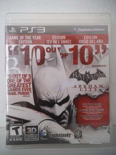 Batman Arkham City Playstation Ps3 Juego Fisico