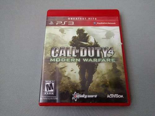 Call Of Duty 4 Modern Warfare Greatest Hits Para Ps3