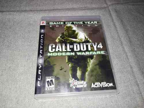Call Of Duty 4 Modern Warfare Ps3 Play Station 3