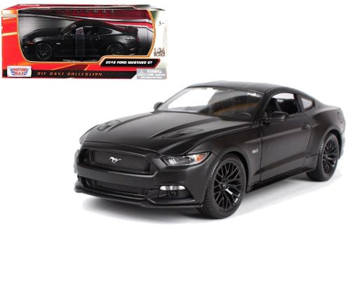 Ford Mustang Gt Negro 1:24 Modelo By Motor Max